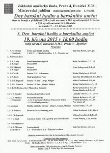 Program 19. 3. 2015